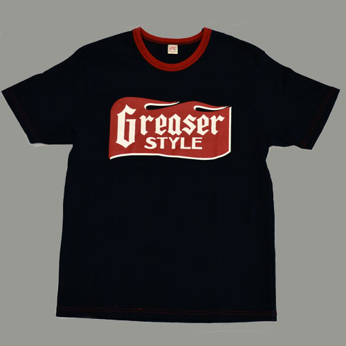 GREASER STYLE  SHORT SLEEVE T−SHIRT ブラック