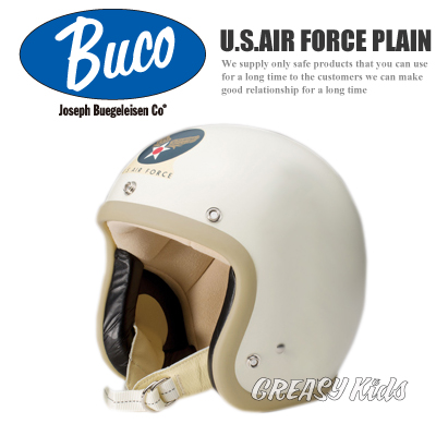 BUCO �W�F�b�g�w�����b�g �X���[���u�R U.S.AIR FORCE PLAIN